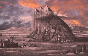 The Rock of Behistun, in Persia. 160 K